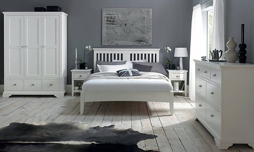 Hampstead White 1 Drawer Bedside Cabinet