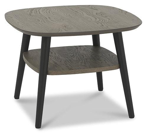 Vintage Weathered Oak Lamp Table