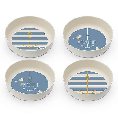 Beach bowls set of 4 made of bamboo