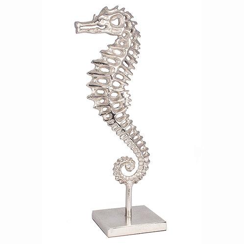 Raw Aluminium & Nickel Sea Horse Decoration
