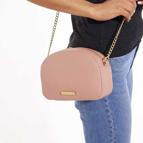 Katie Loxton Half Moon Bag Blush Pink