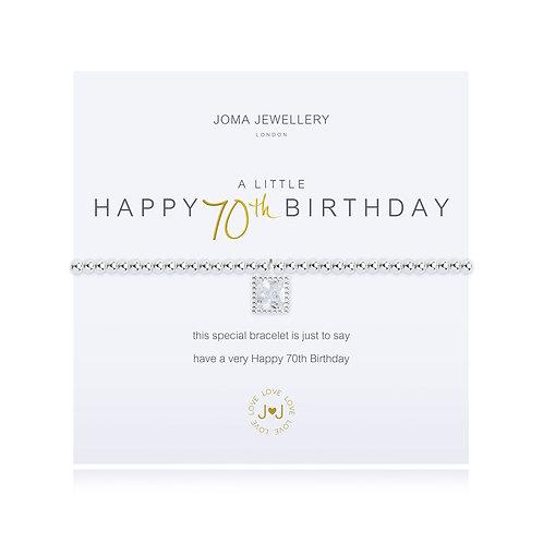 'A Little Happy 70th Birthday' Bracelet