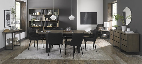 Dark Grey Faux Leather Upholstered Dining Chair