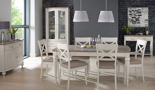 Montreux Grey Washed Oak & Soft Grey 6-8 Extension Table