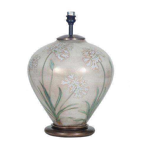 Agapanthus Ginger Jar Glass Table Lamp