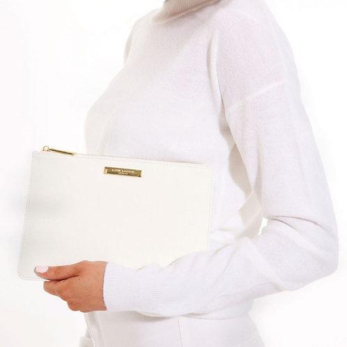 Katie Loxton Soft Pebble Perfect Pouch White
