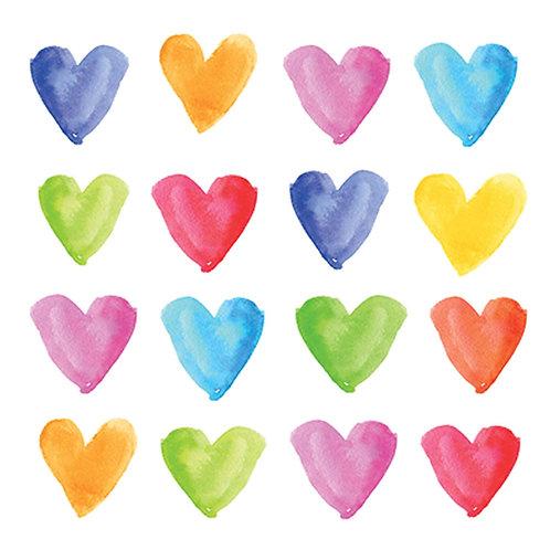 Aquarell Hearts Paper Napkins