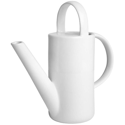 Mini White Ceramic 'Narrow' Watering Jug