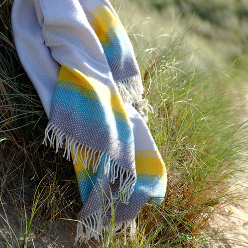 Porthmeor Beach St Ives Pure New Wool Sand Blanket