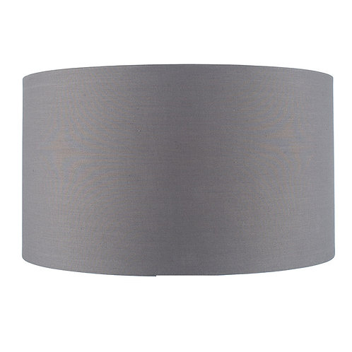 40cm Steel Grey Poly Cotton Cylinder Shade