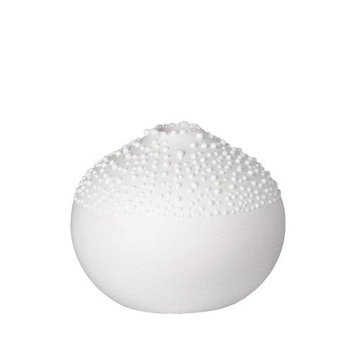 White Decorative Beaded Vase