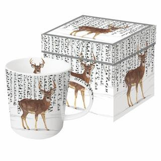 Wilderness Stag Gift-Boxed Mug 350ml New Bone China