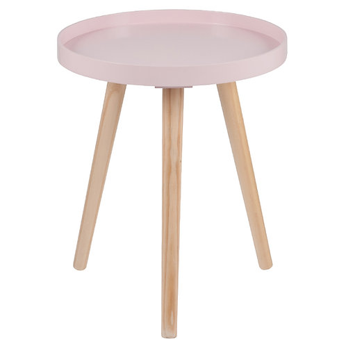 Pink Pine Wood & MDF Round Table Small sand cornwall