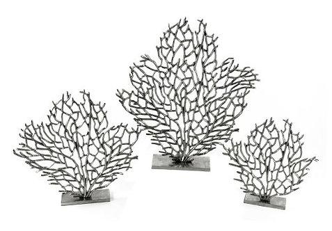 Aluminium Coral on a Plinth