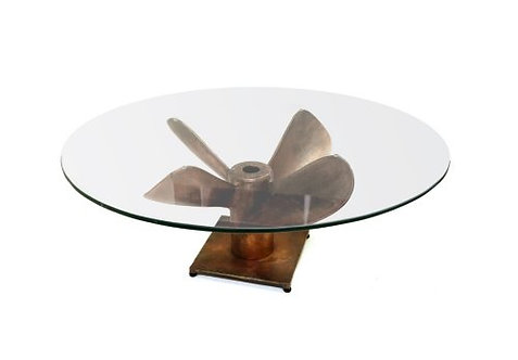 Large Propeller Table-Burnt Copper