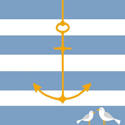 Beach anchor lunch napkins 33x33 cm