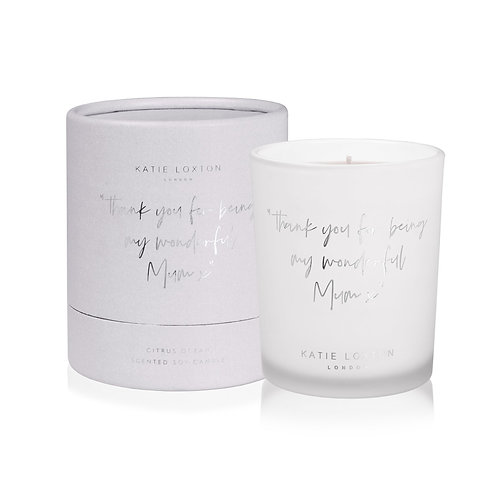 Katie Loxton 'Thank You For Being My Wonderful Mum X' Scented Candle