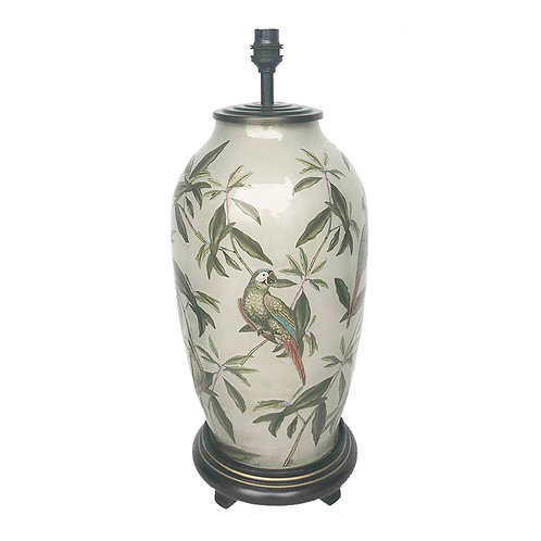 Parrot Tall Glass Table Lamp