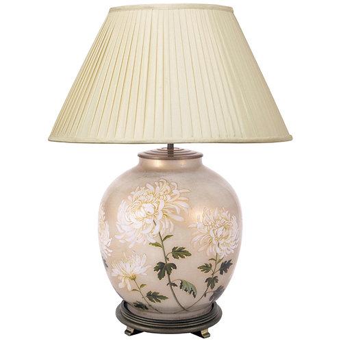 Chrysanthemum Glass Large Table Lamp