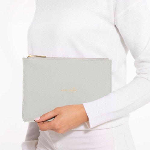 PERFECT POUCH   SUPER SISTER   PALE GREY