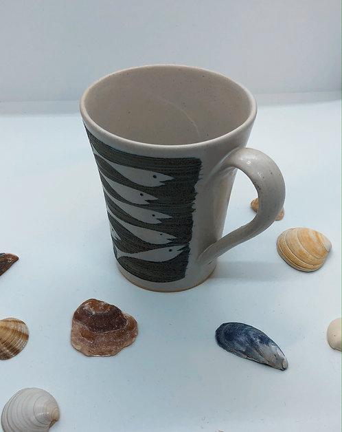 Coastal Hand Crafted Pottery Fish Collection Coffee Mug