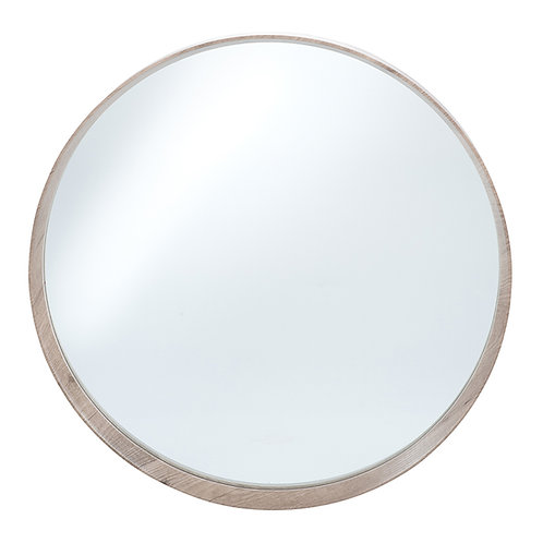 Natural wood Venneer Round Wall Mirror