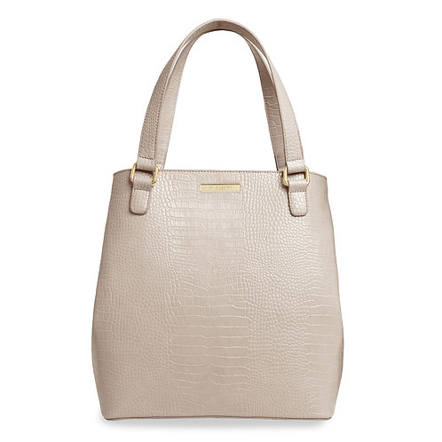 Katie Loxton Celine Croc Day Bag Oyster