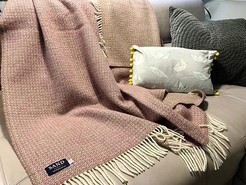 Raspberry Illusion Pure New Wool Sand Blanket