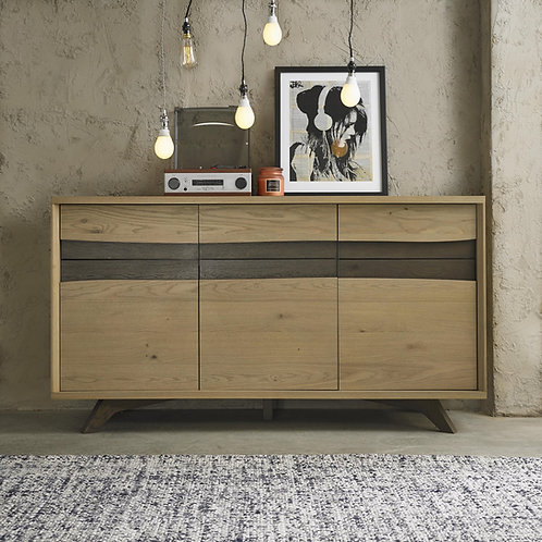 Cadell Wide Sideboard Aged and Weathered Oak