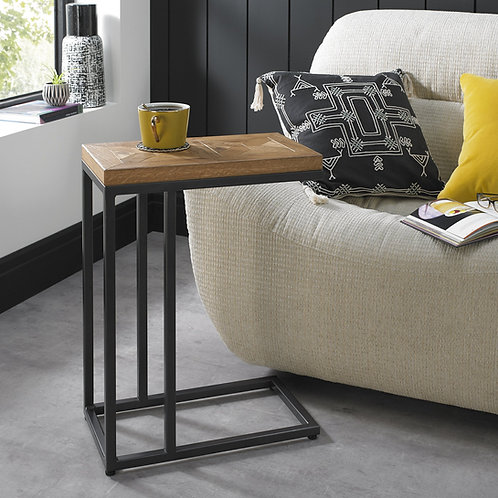Indus Rustic Oak Sofa Table