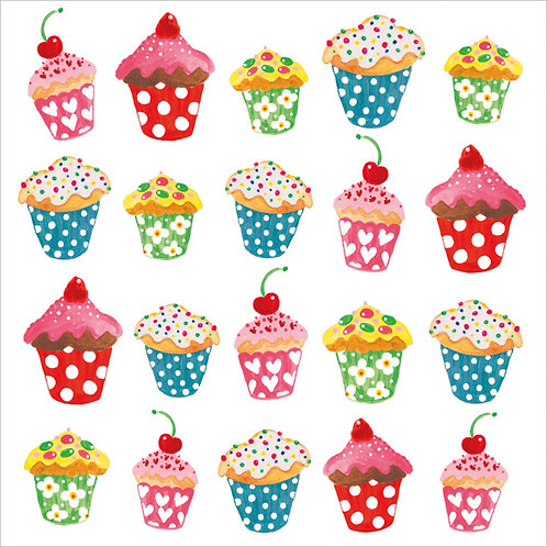 Sweet cupcakes lunch napkins 33x33 cm