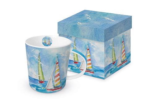 Sailing cup / mug in gift box 350ml New Bone China