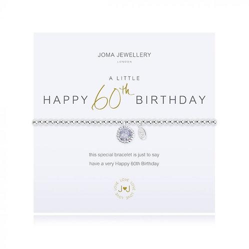 'A Little Happy 60th Birthday' Bracelet
