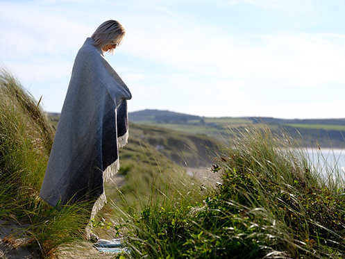 Bamaluz Beach St Ives Pure New Wool Blanket