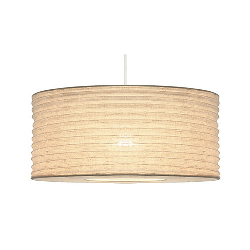 35cm White Jute Easy Fit Lampshade