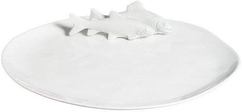 White Porcelain Fish Platter