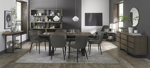 Grey Velvet Upholstered Dining Chair