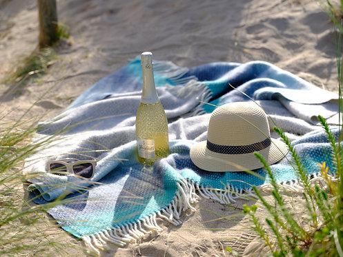 Porthminster Beach Throw Pure New Wool Blanket