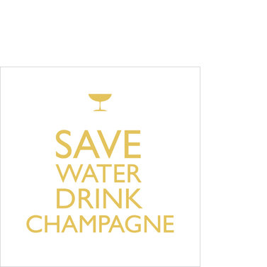 Drink Champagne! Napkins