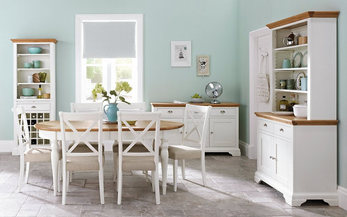 Hampstead 6-8 Two Tone Oval Extending Dining Table