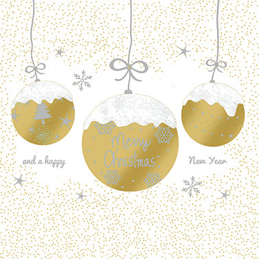 A Very Merry Christmas Gold  Lunch Napkins