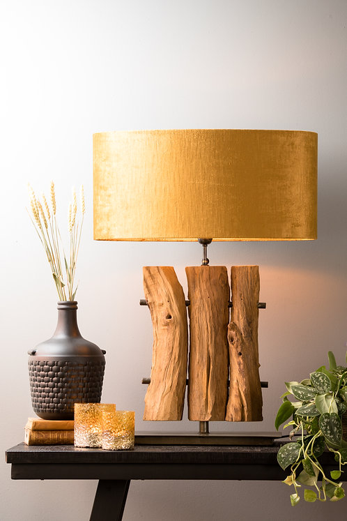 GABROVO Designer Wood Table Lamp