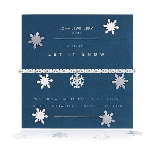A LITTLE LET IT SNOW BRACELET SNOW GLOBE
