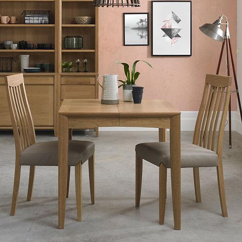 Bergen Oak 2-4 Seater Square Extending Dining Table - 80cm-150cm