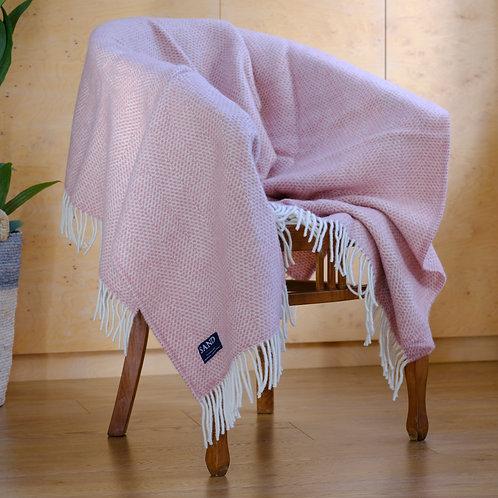 Beehive Dusky Pink Pure New Wool Sand Blanket