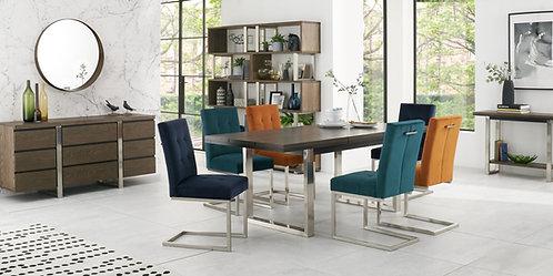 Tivoli Dark Oak 6-8 Extending Dining Table