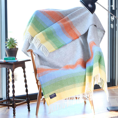 Harbour Beach St Ives Pure New Wool Sand Blanket