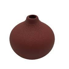 Decorative Beaded Vase in Rust