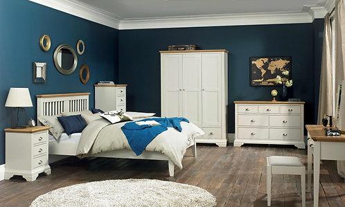 Hampstead Bedroom Soft Grey and Oak Bedroom Set Double or Kingsize.
