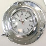 Aluminium Porthole Clock
